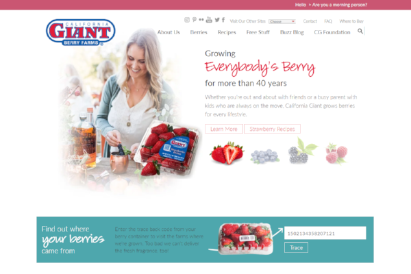 California Giant home page