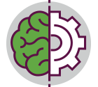 icon of a brain and a gear