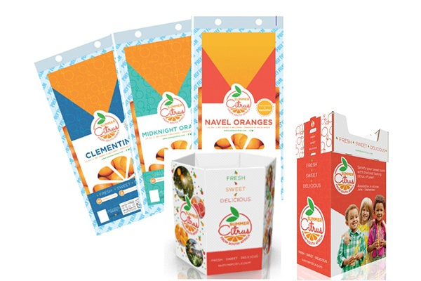 examples of packaging for Summer Citrus