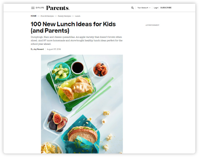 Parents.com - 100 New Lunch Ideas for Kids (and Parents)