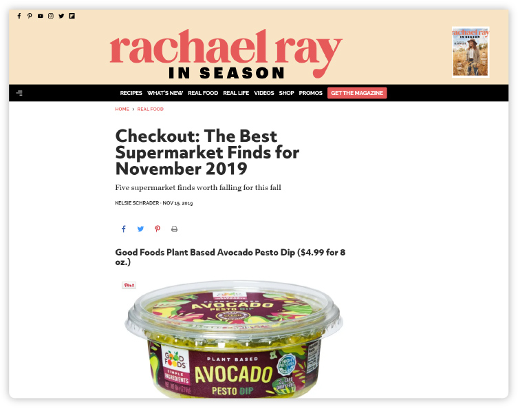 RachaelRayMag.com - Checkout: The Best Supermarket Finds for November 2019